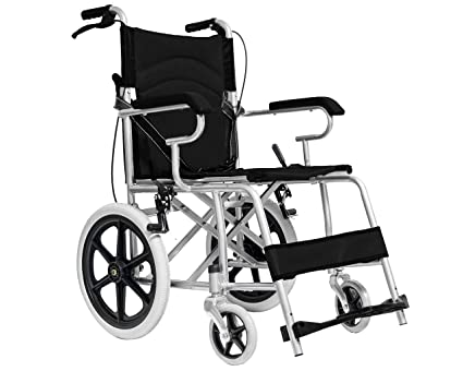 Medicalpharm® carrozzina pieghevole per disabili sedia a rotelle a