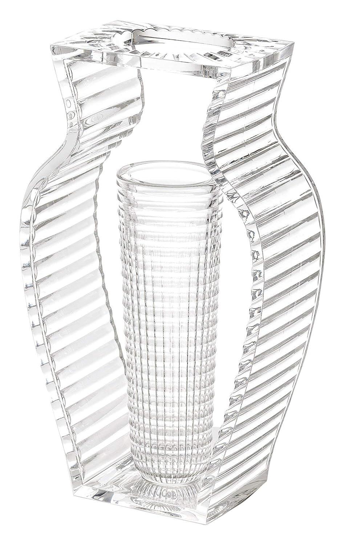 Kartell 01215B4 I Shine Vase, Plastik, Kristall, 12.29 x 33 cm