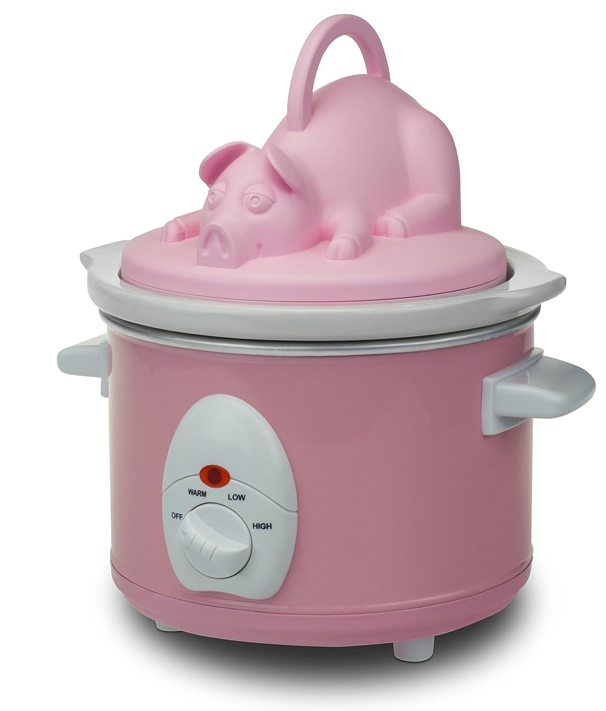 Smart Planet BNB-1PP Bacon Nation Pulled Pork Slow Cooker, Pink