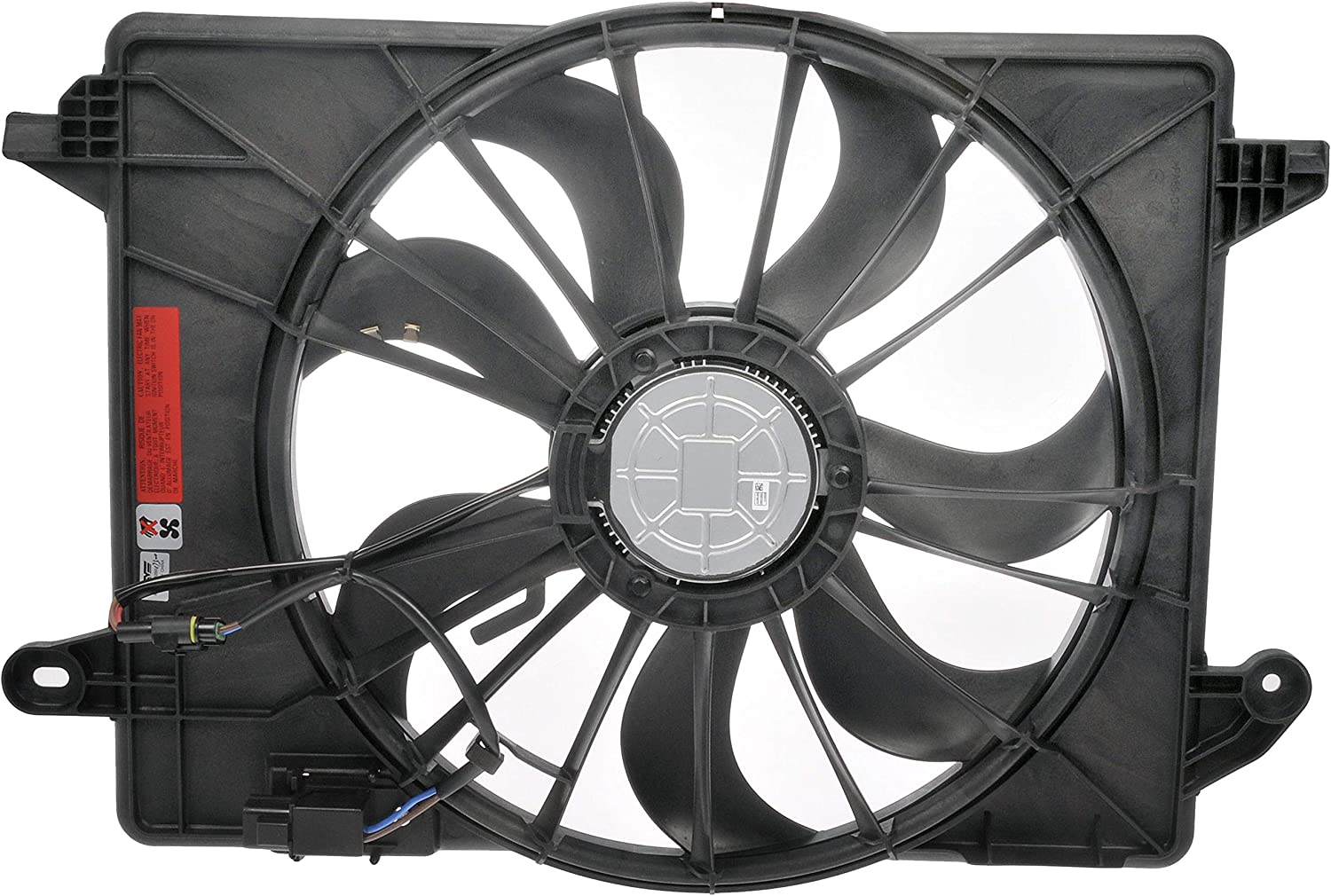 Dorman 621-526XD Engine Cooling Fan Assembly for Select Chrysler / Dodge Models, Black (OE FIX)