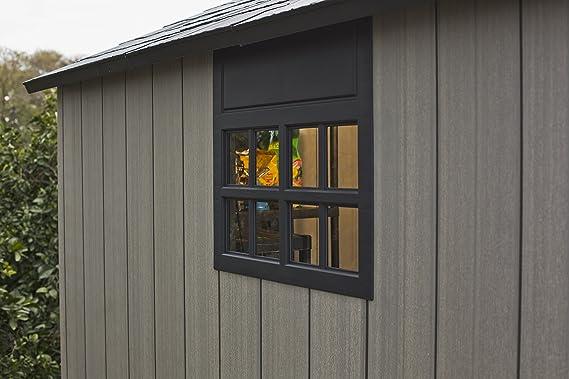 Keter Duo Tech Oakland 757 dispositivo Jardín Casa plástico dispositivos de aspecto de caseta Madera 229 x 223, 5 X 242 cm: Amazon.es: Jardín