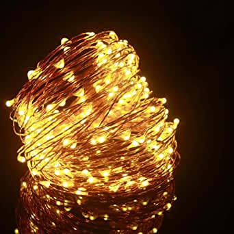 ALED LIGHT Directed Flexible Copper Wire Starry Christmas Light Outdoor Indoor and Garden String Lights, Patio, Wedding, Tree, Party, Christmas [Energy Efficiency Class A +]