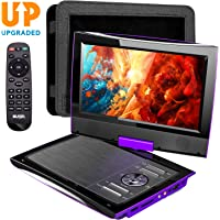 """SUNPIN 2020 New PD969 11"""" Portable DVD Player for Car with Headrest Mount, Upgraded Remote Control, 9.5 inch Brightness Enhanced Screen DVD Play, 5 Hours Battery, Dual Earphone Jack(Purple)"""