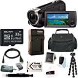 Sony HD Video Recording HDRCX405 Handycam Camcorder w/ Deluxe Bundle