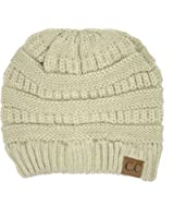 Thick Slouchy Knit Oversized Beanie Cap Hat