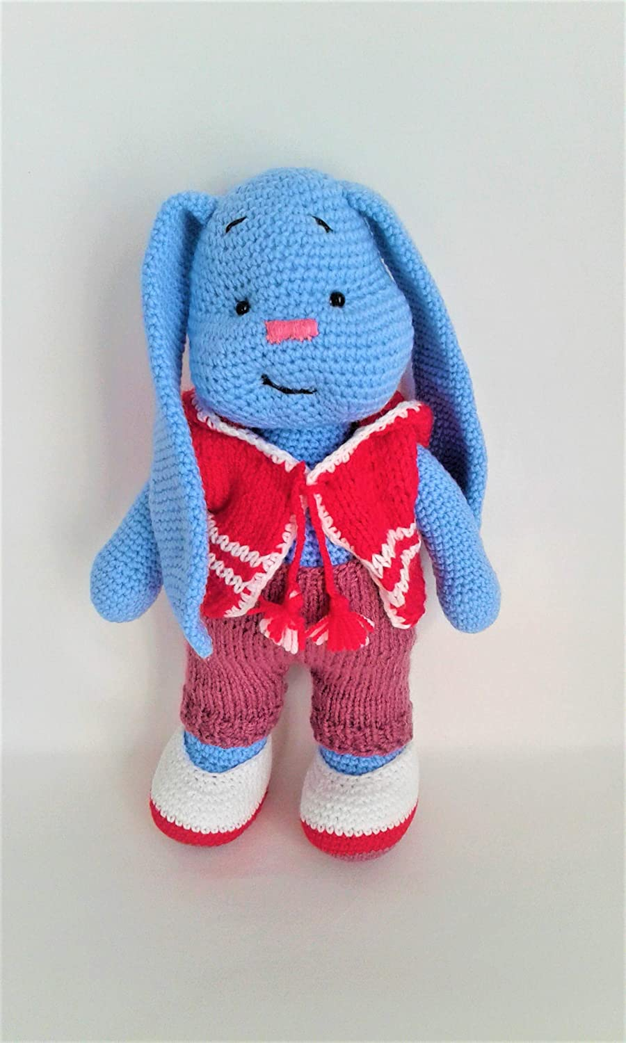 Rabbit Soft Knitted Doll Dolls for Sale Handmade Stuffed Rabbit Interior Doll Decorate the Childrens Room Gift for Children