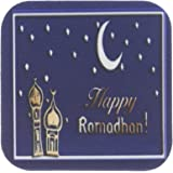 3dRose cst_22458_1 Ramadan Temples with Blue Sky Stars and Moon-Soft Coasters, Set of 4