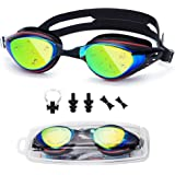 UTOBEST Swimming Goggles Myopia Swim Goggles No Leaking Anti Fog UV Protection Adjustable Straps Swimming Glasses for Adult Men Women Kids With Nose Clip Ear Plugs Replaceable Nose Bridge