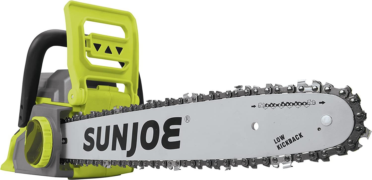 Sun Joe ION16CSCT iON16CS-CT 40-Volt Cordless 16-Inch Chain Saw w Brushless Motor Batte, Tool Only