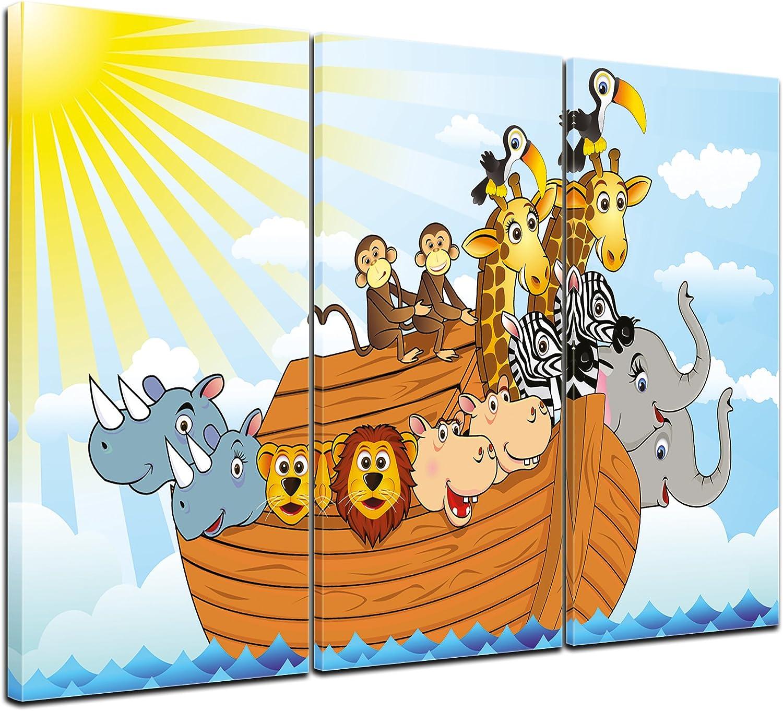 Bilderdepot24 Cuadros en Lienzo Arca de Noé de la Historieta 40x30 cm - Enmarcado Listo Bastidor Imagen. Directamente Desde el Fabricante: Amazon.es: Hogar