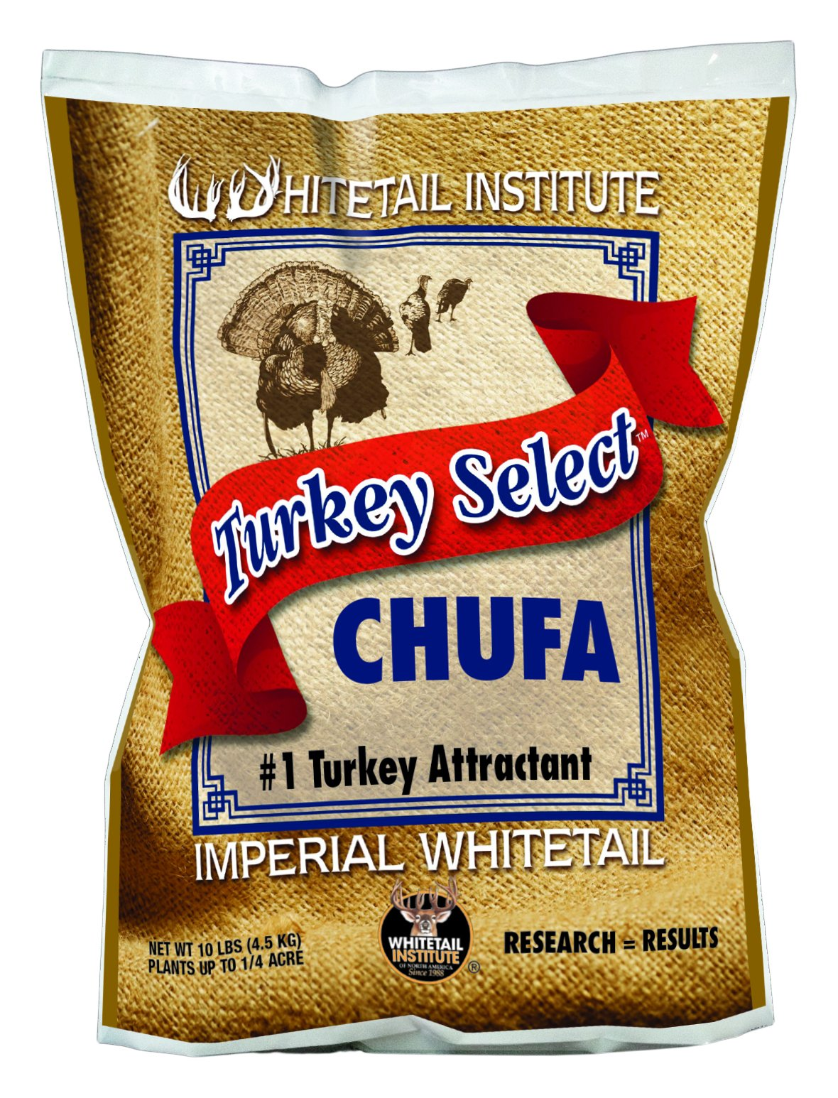 Whitetail Institute Men's Turkey Select Chufa Food Plot Seed, 10 lb by Whitetail Institute