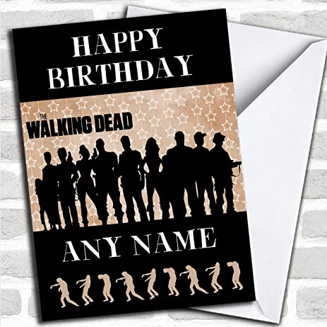 Amazon Red Black The Walking Dead Zombie Personalized