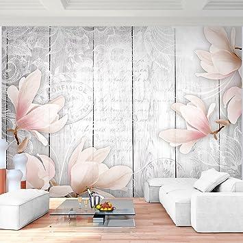 Fototapete Blumen Vintage Grau Vlies Wand Tapete Wohnzimmer Schlafzimmer  Büro Flur Dekoration Wandbilder XXL Moderne Wanddeko