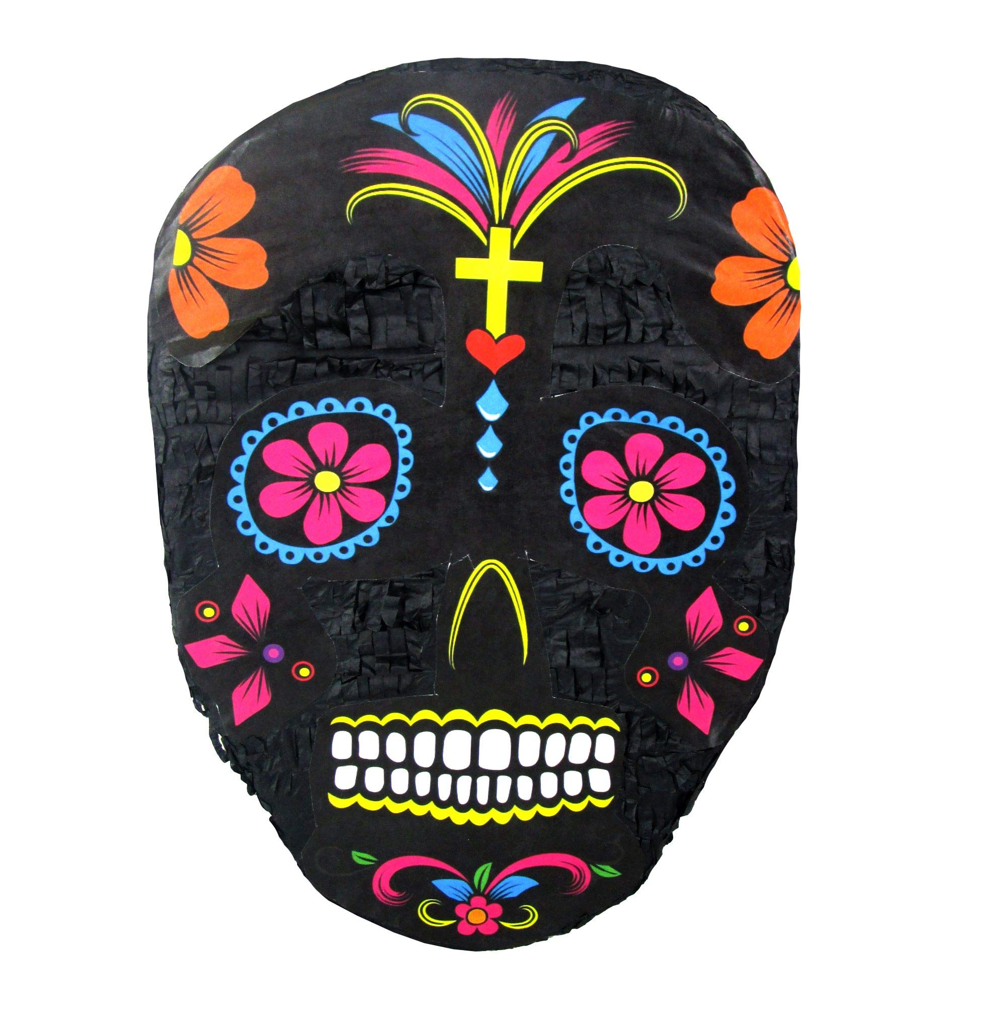 Black Sugar Skull Pinata, Day of the Dead Party Game, Halloween Prop and Decoration by Pinatas
