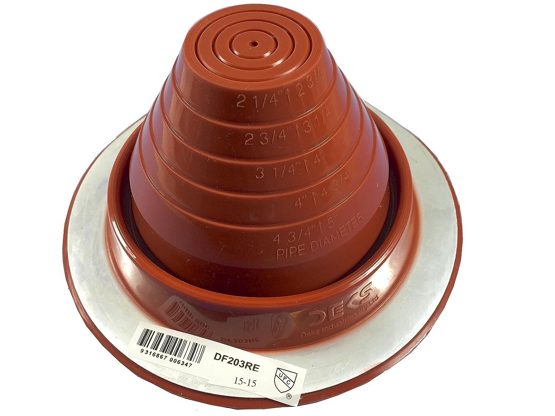 Dektite #3 Silicone Hi Temp Pipe Flashing 1 4 to 4