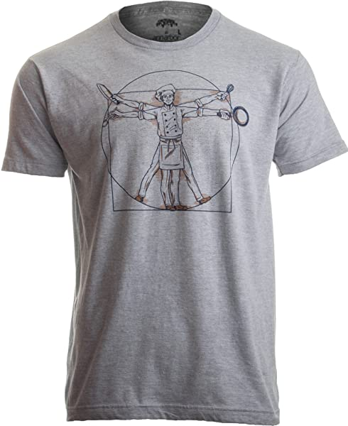 Vitruvian Chef Funny Cook Restaurant Kitchen Worker Food Cooking Humor T Shirt 1775
