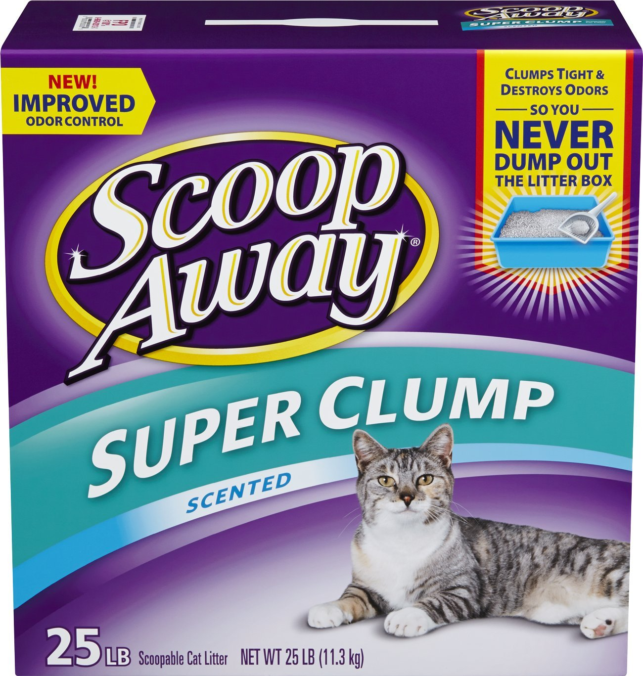 amazoncom scoop away super clump with ammonia shield scented cat litter 25 pound carton scoop away cat litter pet supplies - Cat Litter Reviews
