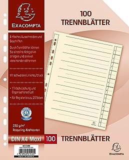 OFFICE PRODUCTS 20232515-14 Deckbl/ätter zum Binden Karton 250 g//qm A4 wei/ß gl/änzend 100 St/ück