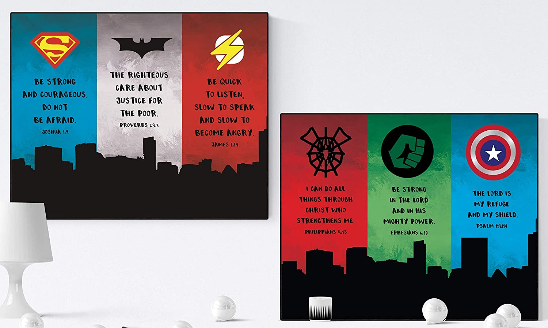 Super Heroes of The Faith (Bundle of 2) | Scripture Art Prints (8x10)