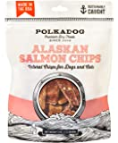 Polka Dog Bakery Single Ingredient Salmon Chips for Dogs Treat, 4 oz