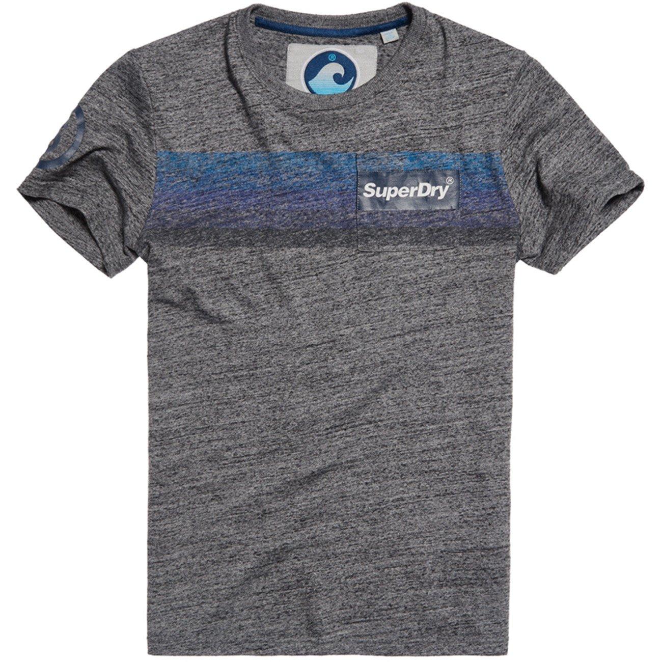 Superdry Mens Super 77 Surf Pocket Tee Mens Grey T-Shirt In Size ...