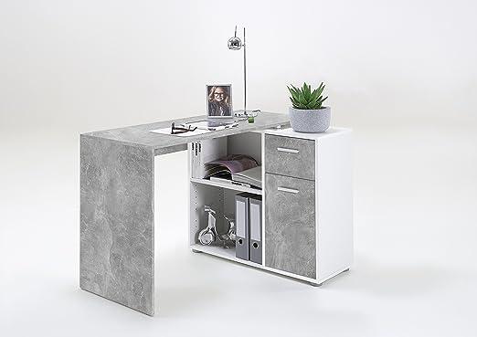 Lexa-Midi - Mesa de ordenador de esquina con forma de L o para ...