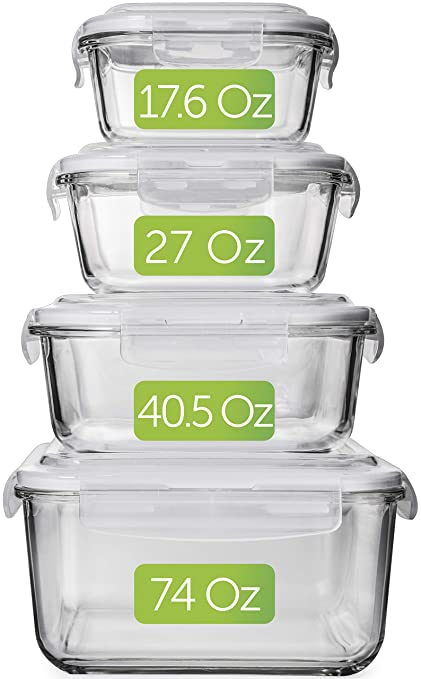 0587da44fac Large Glass Food Storage Containers with Lids - Glass Storage Containers  with Lids - Glass Food
