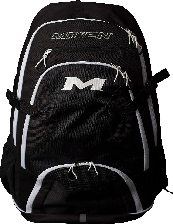 Black White Miken MKBG18BP Baseball Softball Backpack