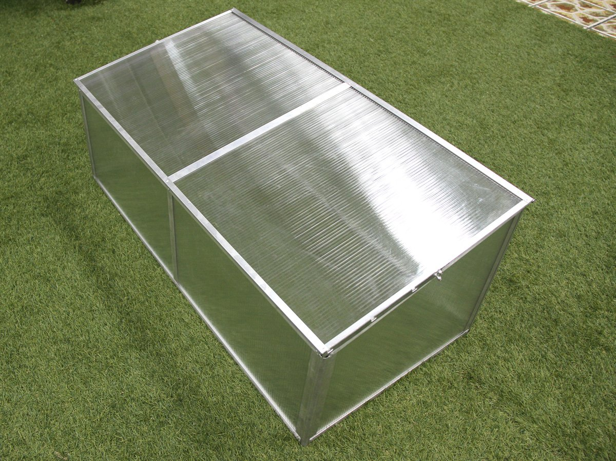 Zenport SH7005-ZD Folding Aluminum Cold Frame Greenhouse, Foldable, 3.3 x 1.6 x 1.3-Feet