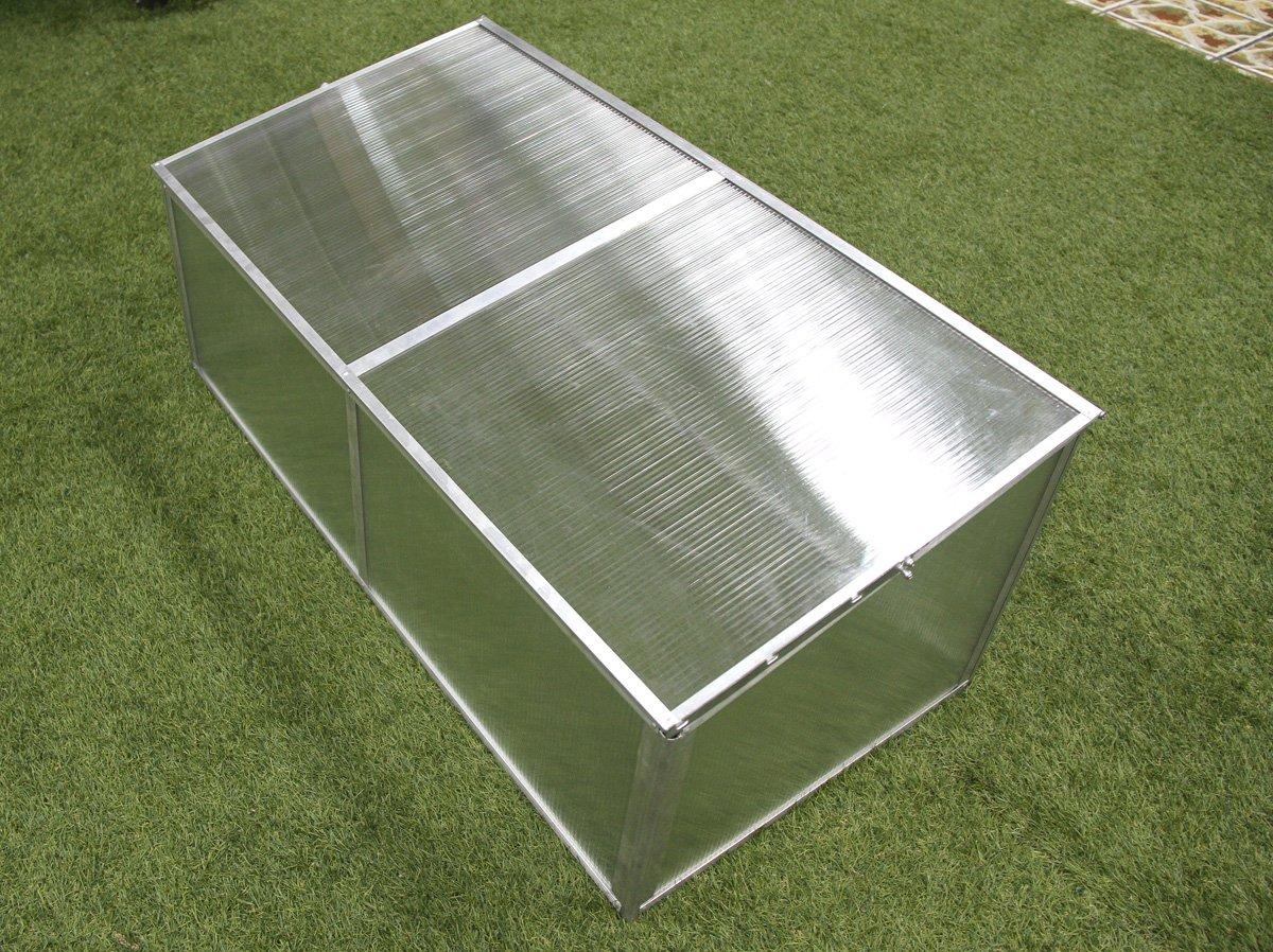 Zenport SH7005-ZD Folding Aluminum Cold Frame Greenhouse, Foldable, 3.3 x 1.6 x 1.3-Feet