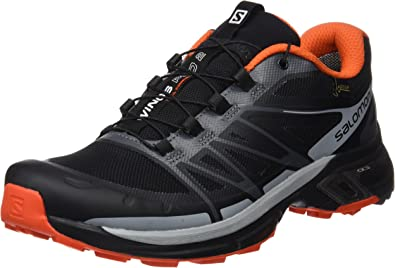 Salomon L39030000, Zapatillas de Trail Running para Hombre, Negro (Black/Dark Cloud/Tomato Red), 42 EU: Amazon.es: Zapatos y complementos