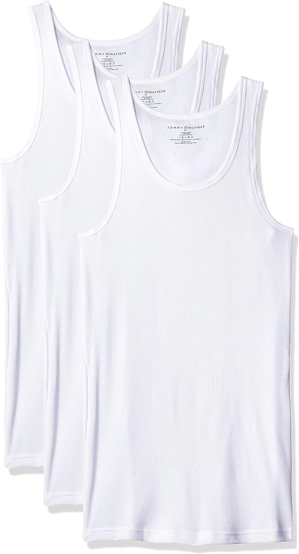Tommy Hilfiger Men's Undershirts 3 Pack Cotton Classics A-Shirts