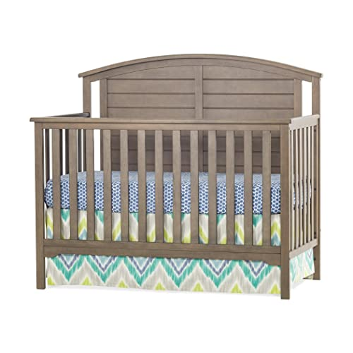 Forever Eclectic Hampton Curve-Top 4-in-1 Convertible Baby Crib