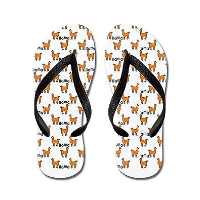 e781437da9fb Lplpol Llama Mania Sandals Flip Flops for Adults L with Black Flip Flops  Belt