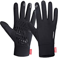 Lanyi Running Sports Gloves Compression Lightweight Windproof Anti-Slip Touchscreen Warm Liner Cycling Work Gloves Men…