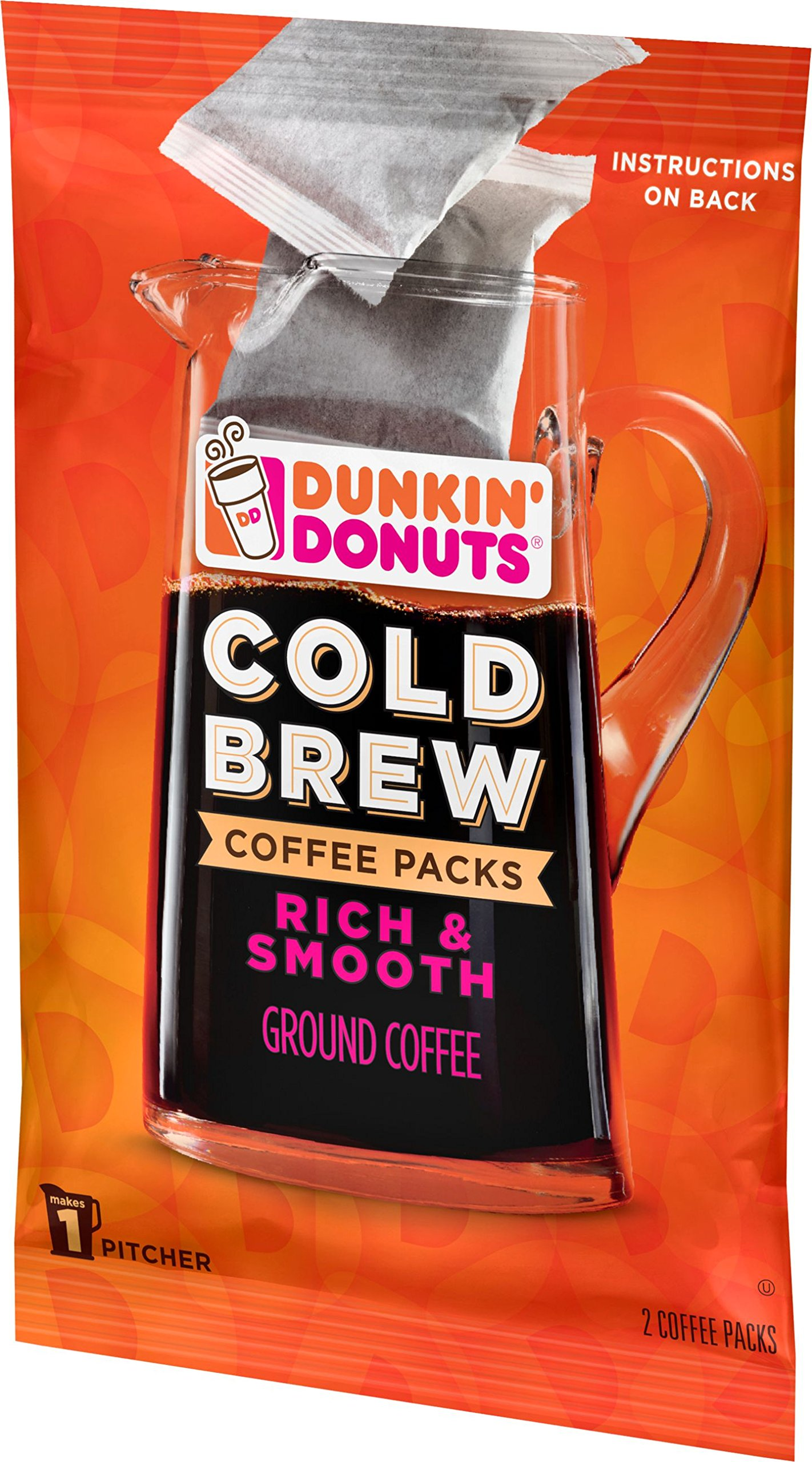 Dunkin' Donuts Cold Brew Coffee Packs, Smooth & Rich Ground Coffee,8.46 Ounce (Pack of 6) by Dunkin' Donuts