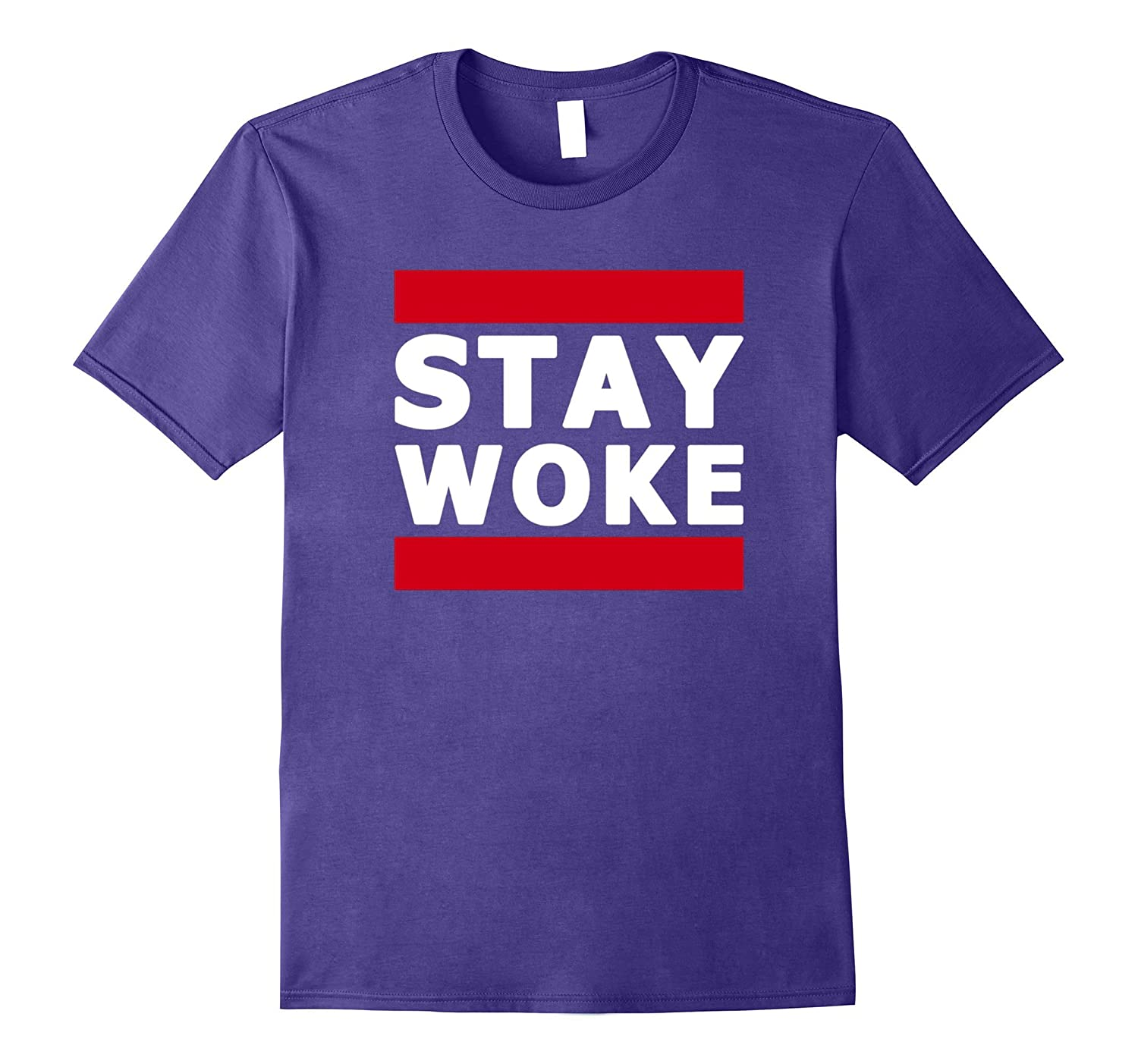Hashtag Stay Woke Protest Tee Shirt-FL