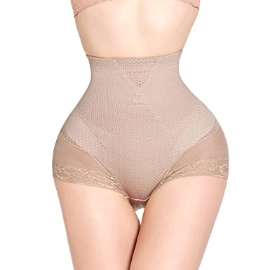a6c8f4493b27d Queenral Body Shaper High Waist Tummy Control Seamless Push Up Buttock Hip  Pads Panties Underwear Apricot