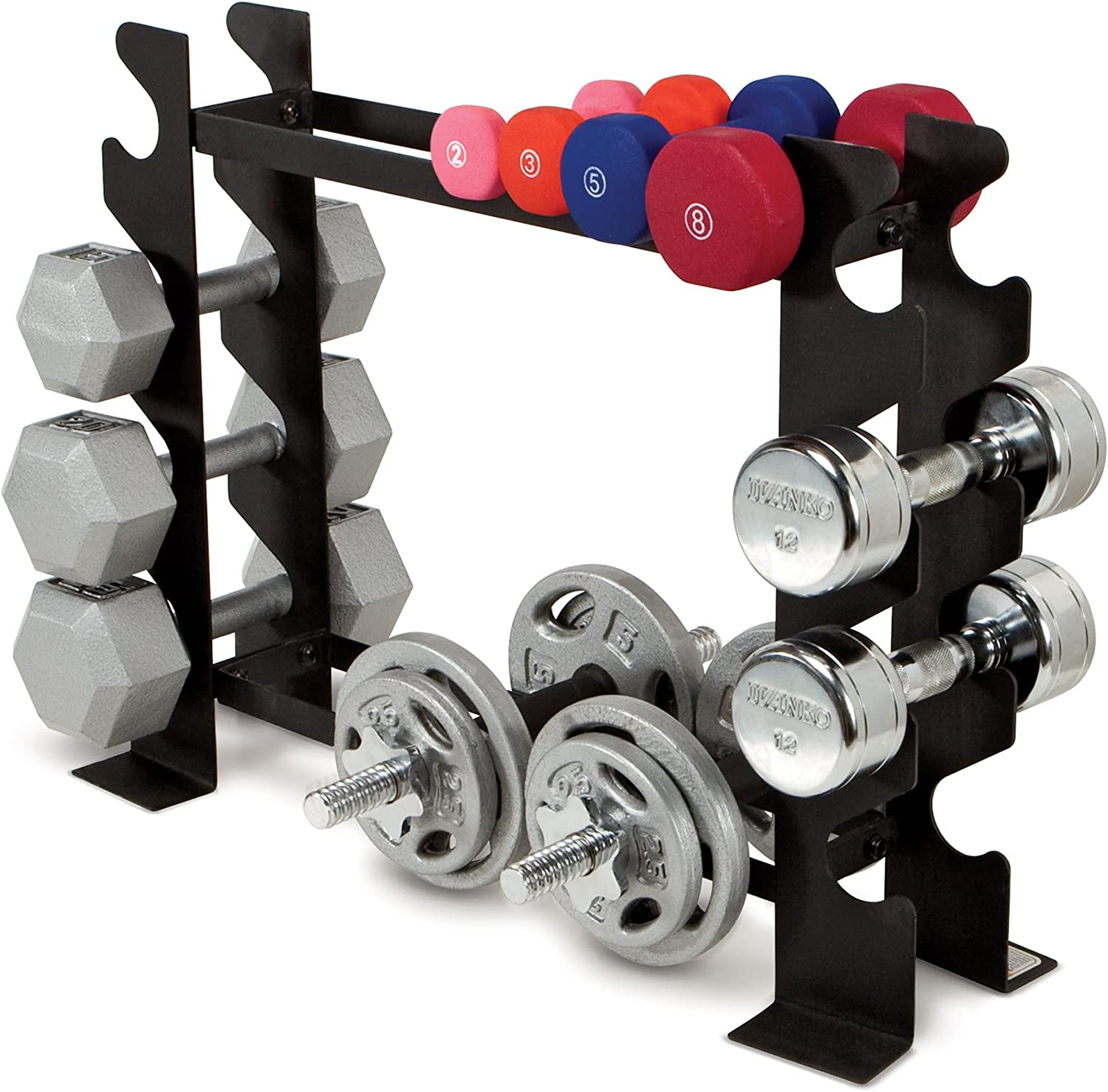 Marcy Compact Dumbbell Rack Free Weight Stand for Home Gym DBR-56 Renewed
