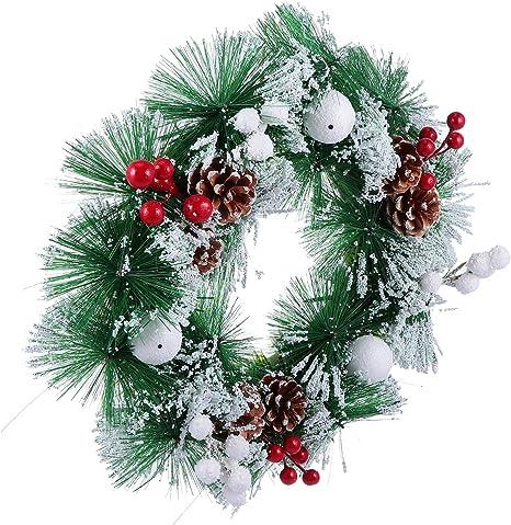 Christmas Pine Cone Wreath Hanging Ornament Garland Xmas Party Door Wall Decor