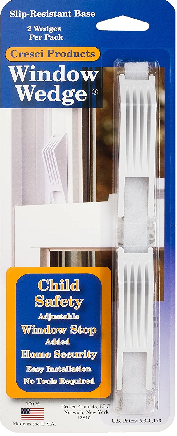 Cresci The Window Wedge - Adjustable Window Stop (4 total - 2 two packs) - - Amazon.com