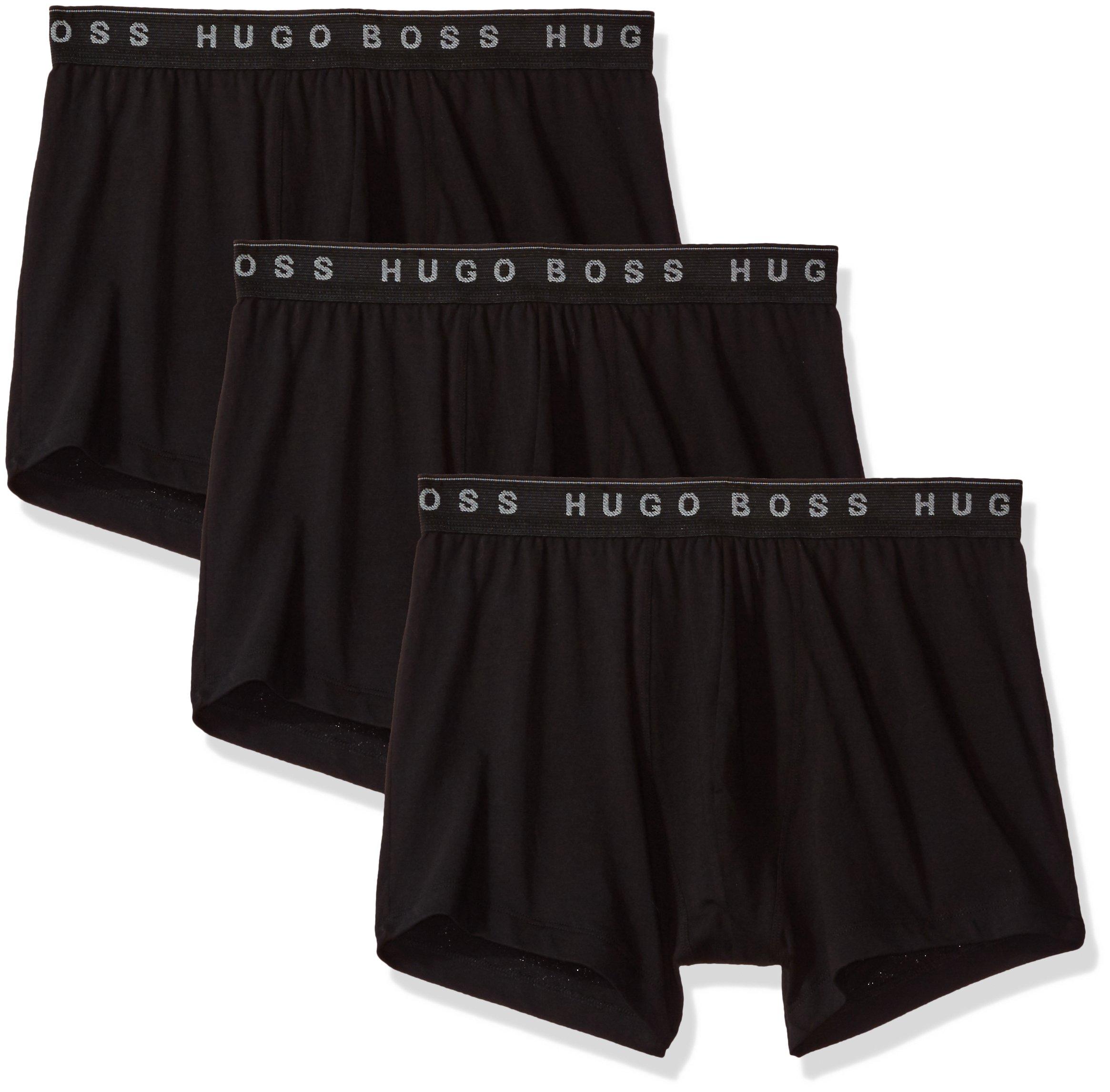 Hugo Boss BOSS Men's 3-Pack Cotton Trunk, New Black, Large