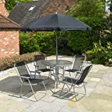 Kingfisher FS6PB Promotional Set (6 Pieces), Black & Silver, 4-Seater