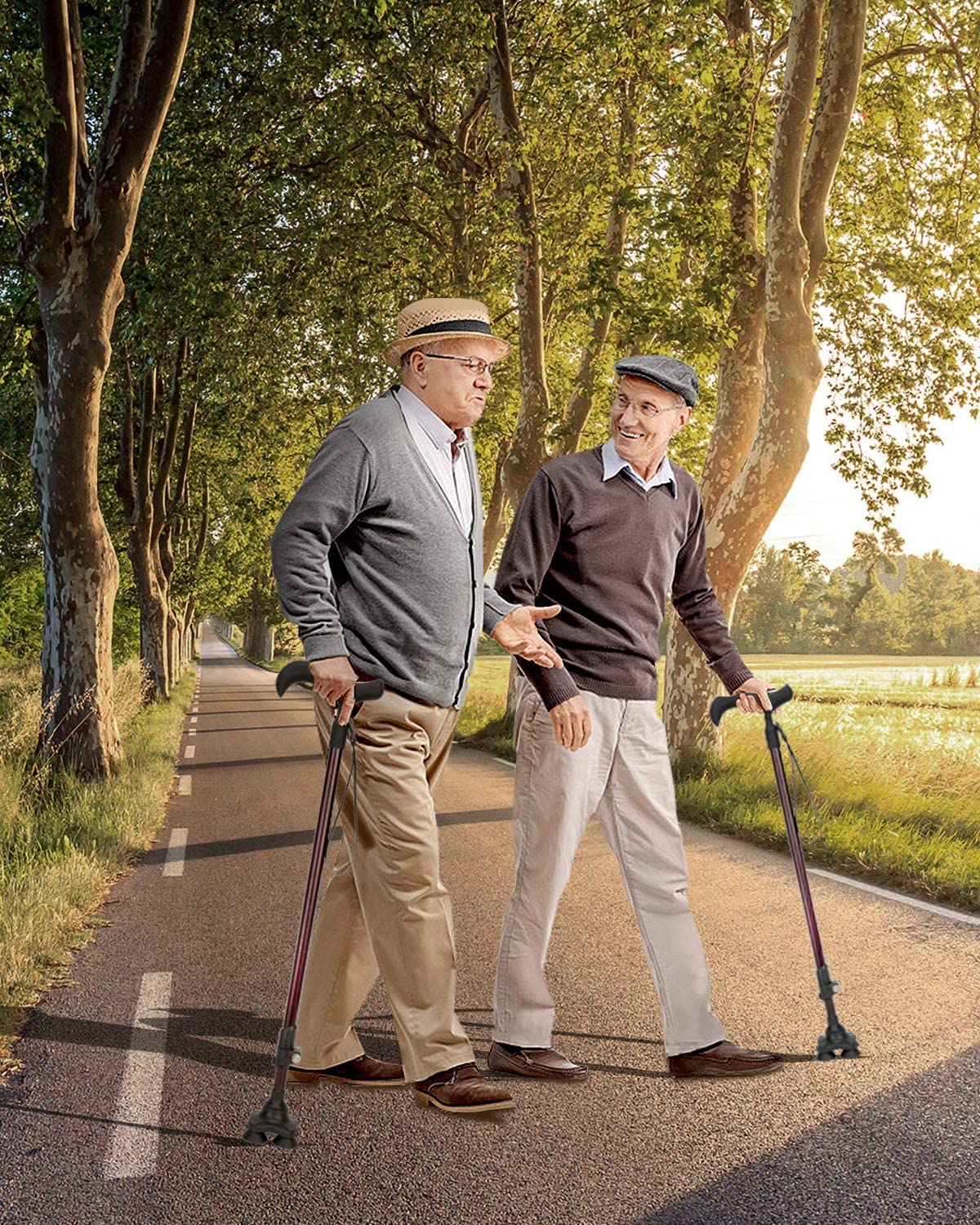 BERSERKER OUTDOOR Adjustable Carbon Fiber Walking Cane for Men and Women Lightweigh Walking Stick with Soft Touch Handle Portable Sturdy Self Standing Cane with Wrist Strap for Seniors Elderly