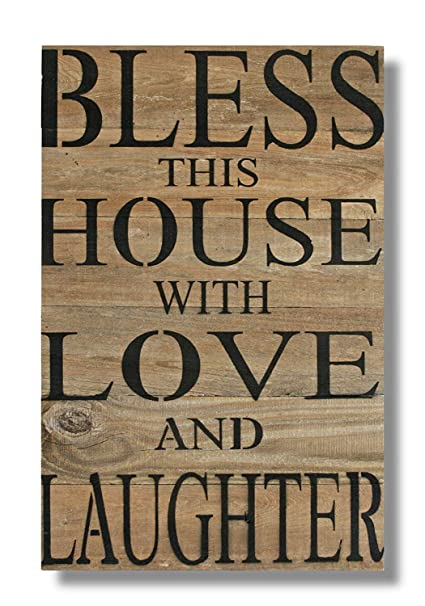Amazon Uniquepig Bless This House With Love And Laughter New Love Plaques Quotes