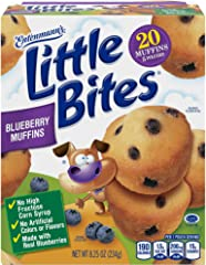 Entenmann's Little Bites Blueberry Mini Muffins made with Real Blueberries, 20 Count