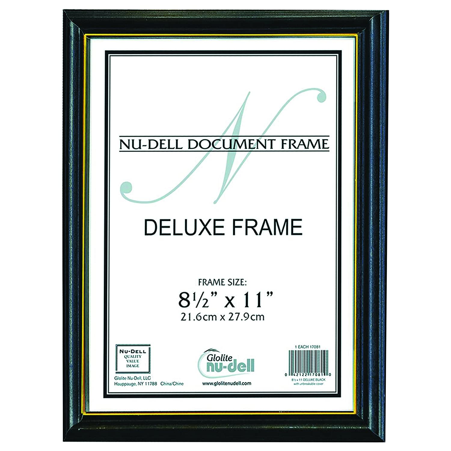 Amazon.com: NuDell 17081 Deluxe Wood Document Frame, Plastic Face, 8 ...