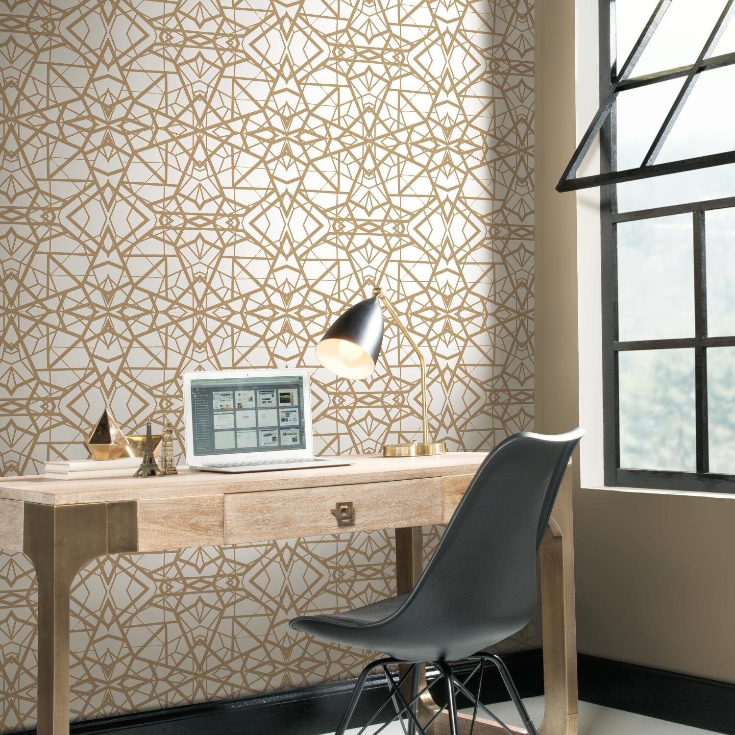 Shatter Geometric Repositionable and Removable Peel and Stick Wallpaper