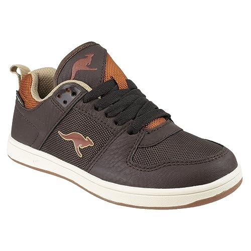 KangaROOS - Zapatillas de deporte para niño Marron foncé/Cognac 33 EUR