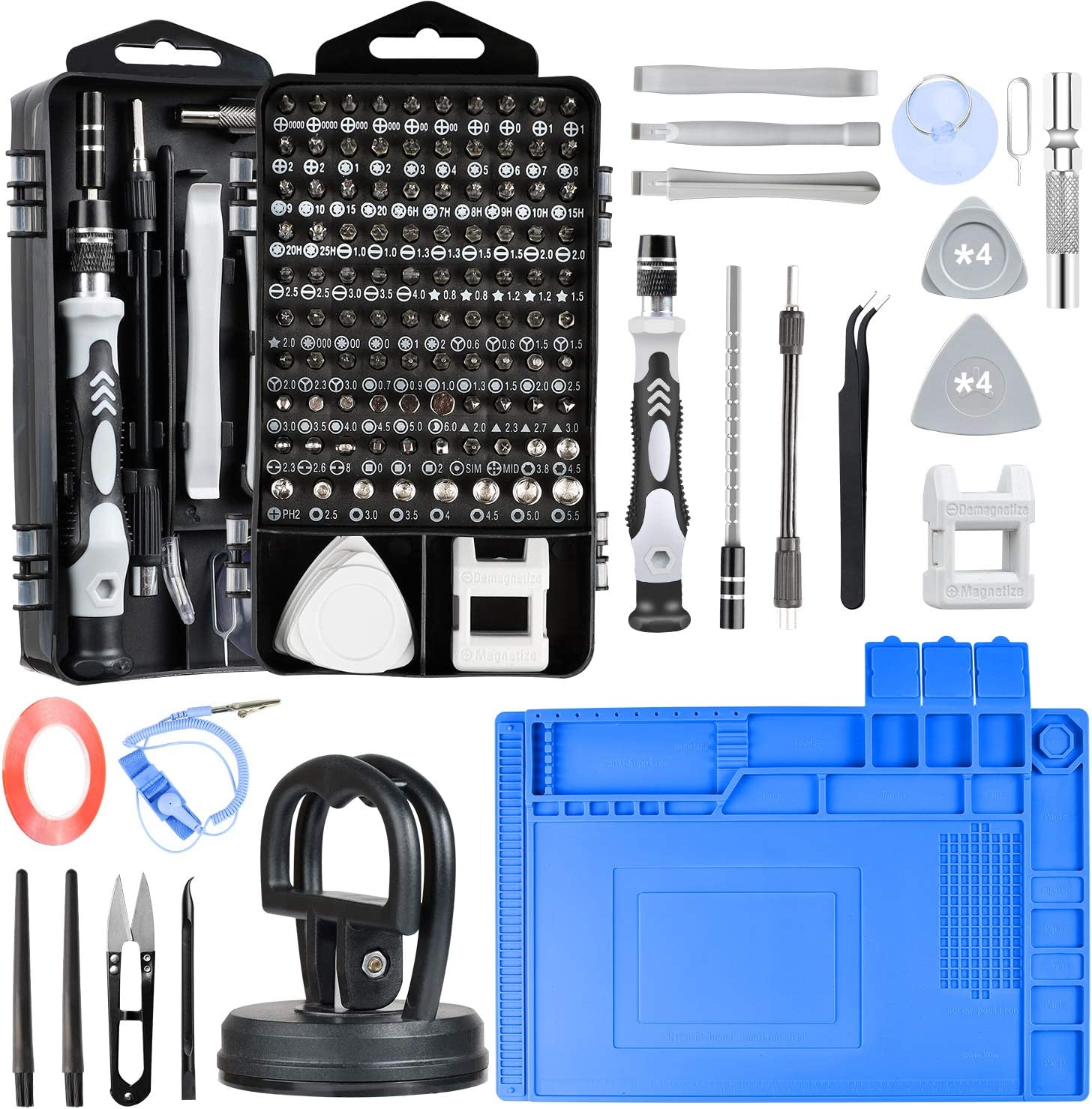 Eyeglass Magnetic Small Pocket Screwdriver Bit Set for Phone Game Console and Ring Doorbell Electronics Camera Laptop Tablet ELECKING 31 in 1 Mini Precision Screwdriver Set Watch